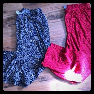 Two Pairs Pajama Pants Size 14-13 or Large